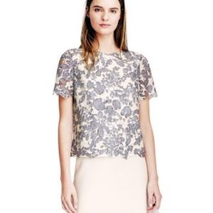 Tory Burch Lace Short Sleeve Top Blouse